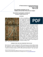 THE EARTHQUAKE RESISTANCE OF TRADITIONAL TIMBER AND MASONRY DWELLINGS IN TURKEY