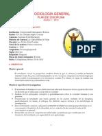 Plan Disciplina Sociología general