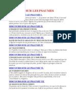 Saint Augustin - Discours sur les psaumes Plan Du Discours Sur Les Psaumes de Saint Augustin
