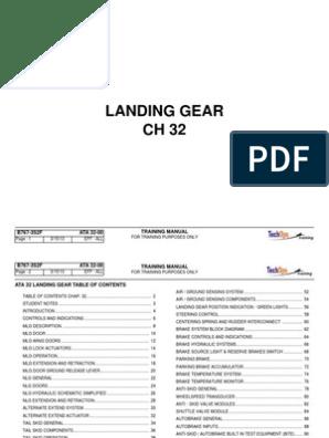 B767 ATA 32 Student Book   Landing Gear   Steering