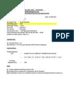 ACSR Conductor Regulation Calculation