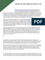Descodificación Biológica De Mis Problemas Oculares, Por Christian Fleche.