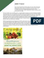 Alimentación Saludable Y Cancer