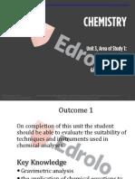 VCE Chemistry Unit 3