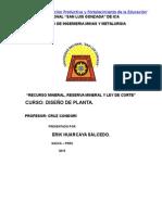 Ley de Corte y Reserva de Mineral