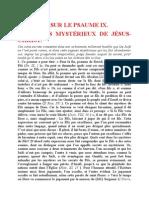 Saint Augustin - Discours sur les psaumes - Ps 9 Les Actes Mystérieux de Jésus-christ