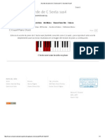 Acordes de Piano de C Sexta Sus4_ C Acordes 6 Sus4