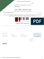 Acordes Piano de C Agregar Noveno_ Acordes Add9 C