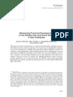 Measuring Financial Development