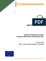 Backgroun Report Italy Albania