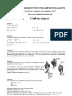 Certif VSB 2007
