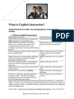 Explicit Instruction May 2009
