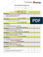 Pauta Evaluacion Informe Escrito