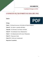 Constituição portuguesa de 1911
