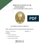 Trabajo de Sistema de luque  Lineales Homogeneas Algebra Lineal Seccion A