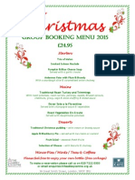 Christmas Set Menu 2015 + Booking Form