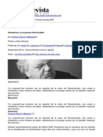 Nueva Revista - Chesterton La Sorpresa Interminable