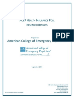 ACEP Health Insurance Poll Research Result