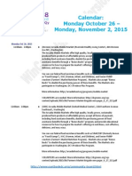 Wards 7 & 8 Calendar, Oct. 26 - Nov. 2, 2015