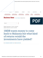 1MDB Wants Money to Come Back to Malaysia but What Kind of Returns Would the Investments Have Yielded_ - Business News _ the Star Online