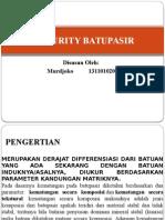 Maturity Batupasir