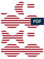 Printable Striped Paper Bow Red(1)