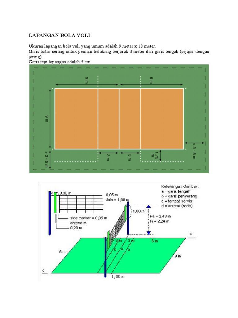 Lapangan Bola Voli Docx
