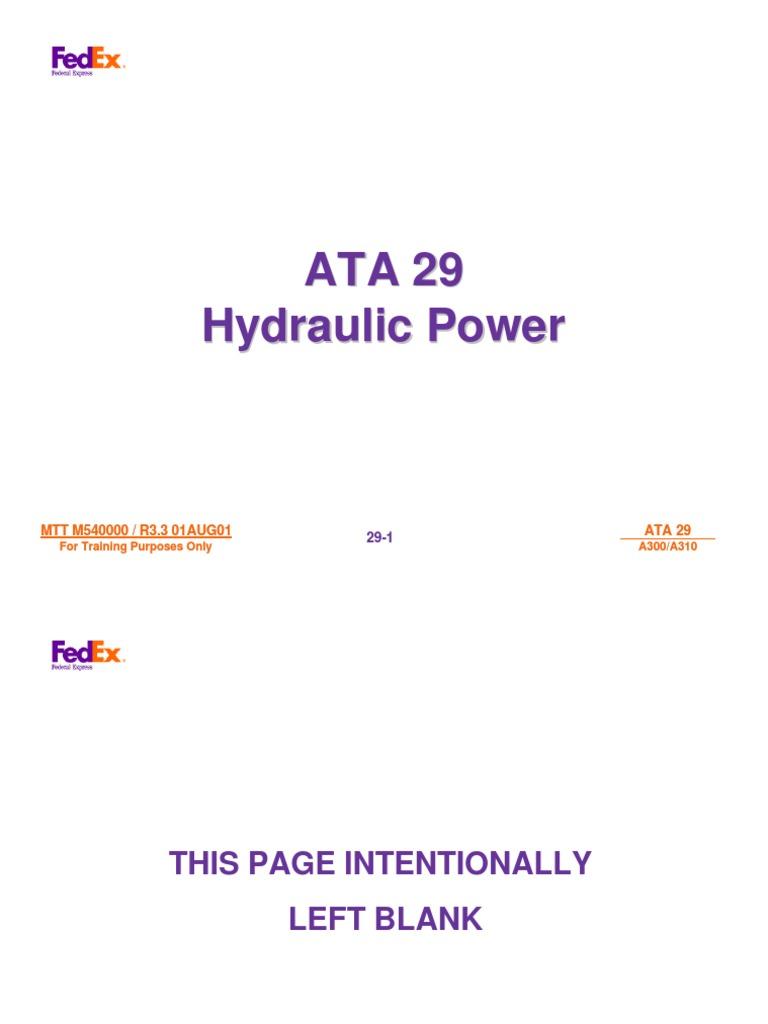 airbus 29 a300 a310 hydraulics landing gear aircraft flight rh scribd com 92F Technical Manuals Technical Document Example