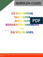 Cs Tax Sa by CA Vivek Goel
