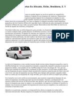 Alquiler De Furgonetas En Alicante, Elche, Benidorm, E. Y Villena