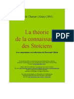 Alain - La théorie de la connaissance des Stoïciens (Uqac)