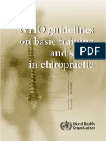 Chiro Guidelines WHO