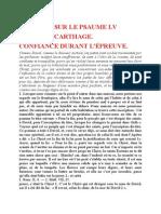 Saint Augustin - Discours sur les psaumes - Ps 55 Confiance Durant l'Épreuve