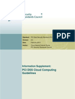 Guidelines on Cloud Computing From the Perspective of PCI Security Standards