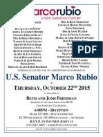 Rubio Fundraiser