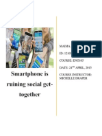 Smartphones are destroying social get together