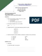 Test de Evaluare Initiala Matematica Var2