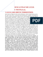 Saint Augustin - Discours sur les psaumes - Ps 72 Vanité Des Biens Terrestres