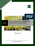 Plantilla Guia Estudio Grado Parte 2-PsicologiaIntervencionComunitaria2015-16