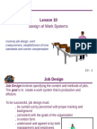 10 Design of Work Systems