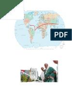Mapamundi Viaje Del Papa
