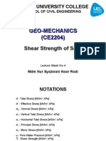 Shear Strength of Soil Student Handout