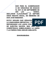 25 09 2011 - Clausura de la Séptima Gran Regata Anual