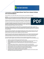 Prescription Drug and Opioid Abuse Task Force Releases Findings and Recommendations