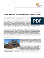 2015 04 13 Passive-House-Conference Pioneer-Award Press-Release