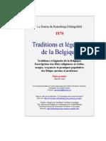 Reinsberg-Düringsfeld,Baron de - Traditions et légendes de la Belgique, tome1