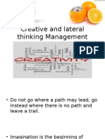 Creative and Lateral Thinking Management