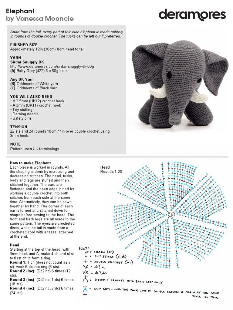 Original Little Bigfoot Elephant Free Crochet Pattern | 1024x768