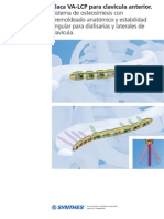Placa VA-LCP para clavícula anterior.