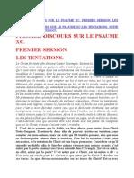 Saint Augustin - Discours sur les psaumes - Ps 90 Les Tentations